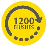 1200 flushes